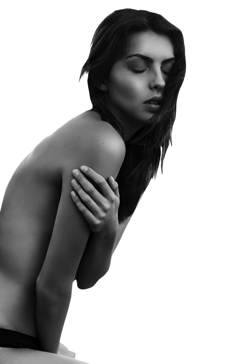 Hot, Girl, Hairs, Black And White, Woman, Young, Female