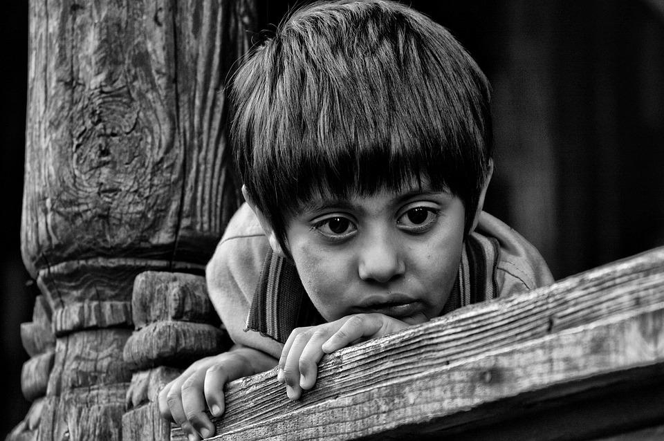 Indian, Kid, Child, Black And White, Eyes, Hairs