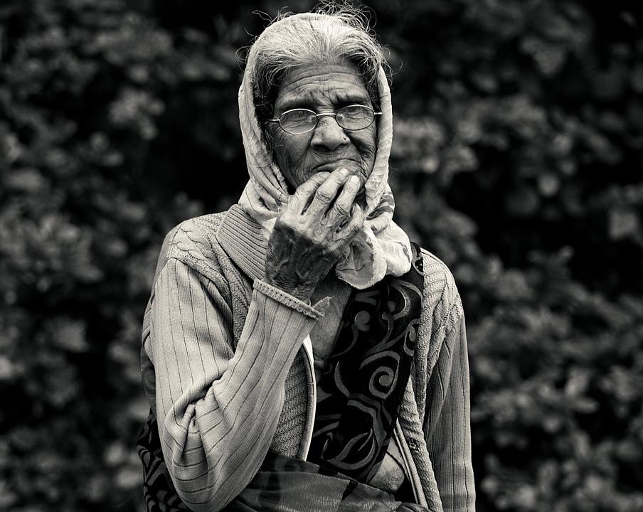 free photo black and white lady monochrome art old lady - max pixel