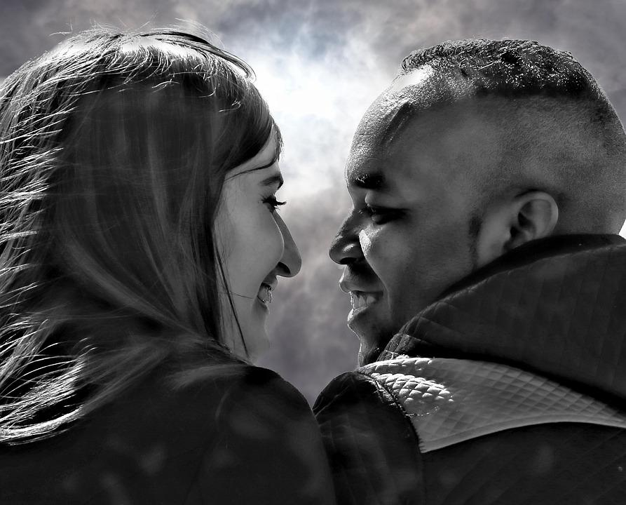 Couple, Love, Romantic, Set, Black And White