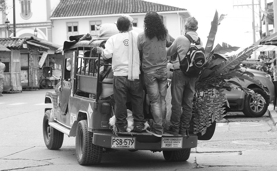 Black And White, Means Of Transport In Filandia, Jeep