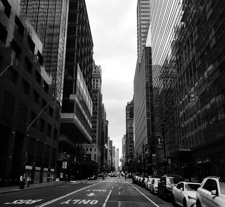 New York, Metropolis, Black And White