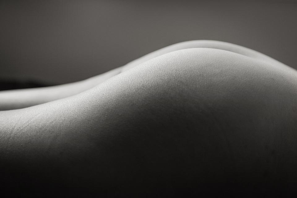 Clean Lines, Naked Woman, Black And White, Nude