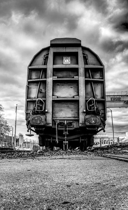 Train, Railway, Wagon, Black And White, Hdr, Old