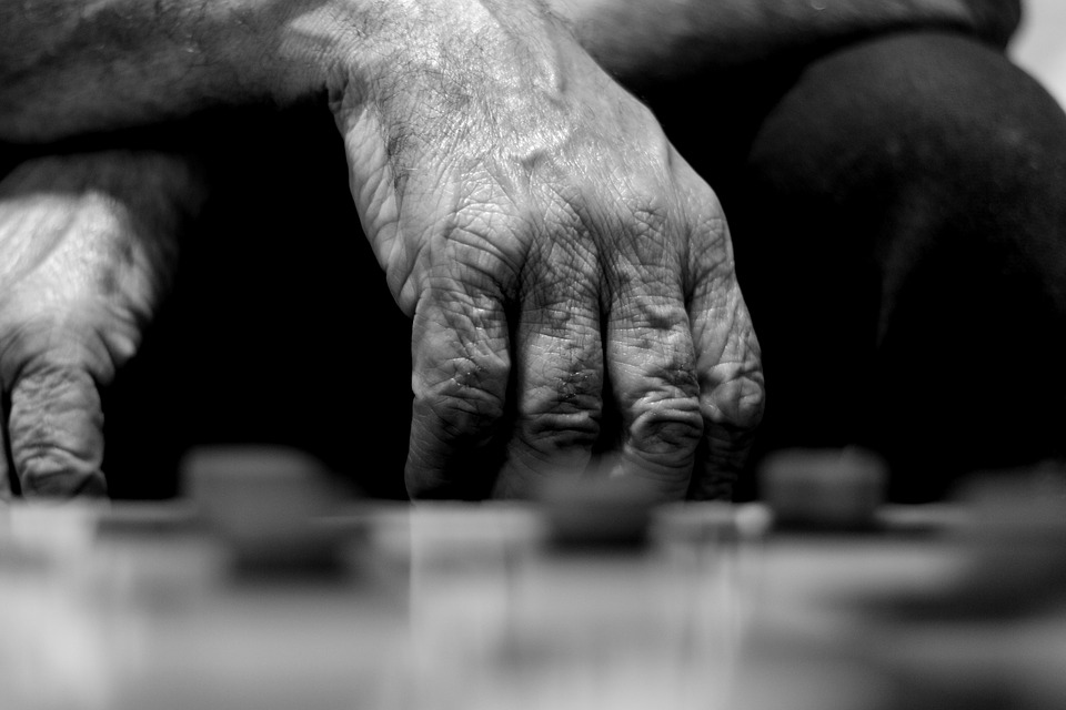 Black And White, Lady, P B, Person, Game, Board