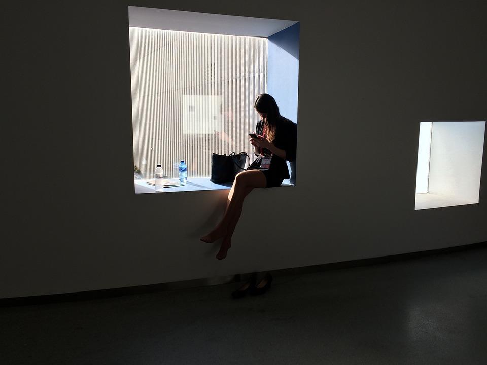 Girl, Window, Mood, Portrait, Black And White, Profile