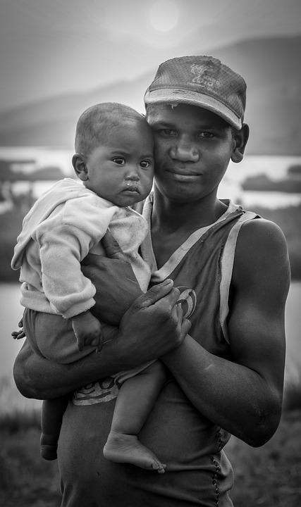 Brothers, Black And White, Poverty, Madagascar, Travel
