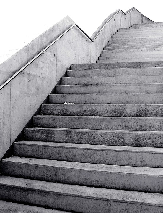 Black, Black And White, Black And White Photo, Stairs