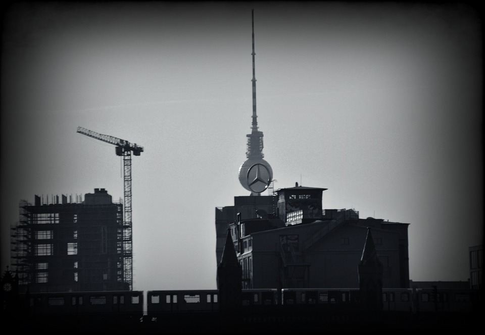 Berlin, Tv Tower, Capital, Black And White, Site