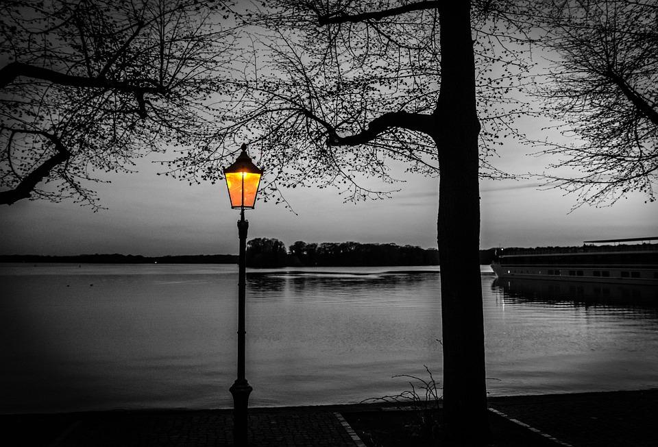Black And White, Evening Hour, Twilight, Evening Sky