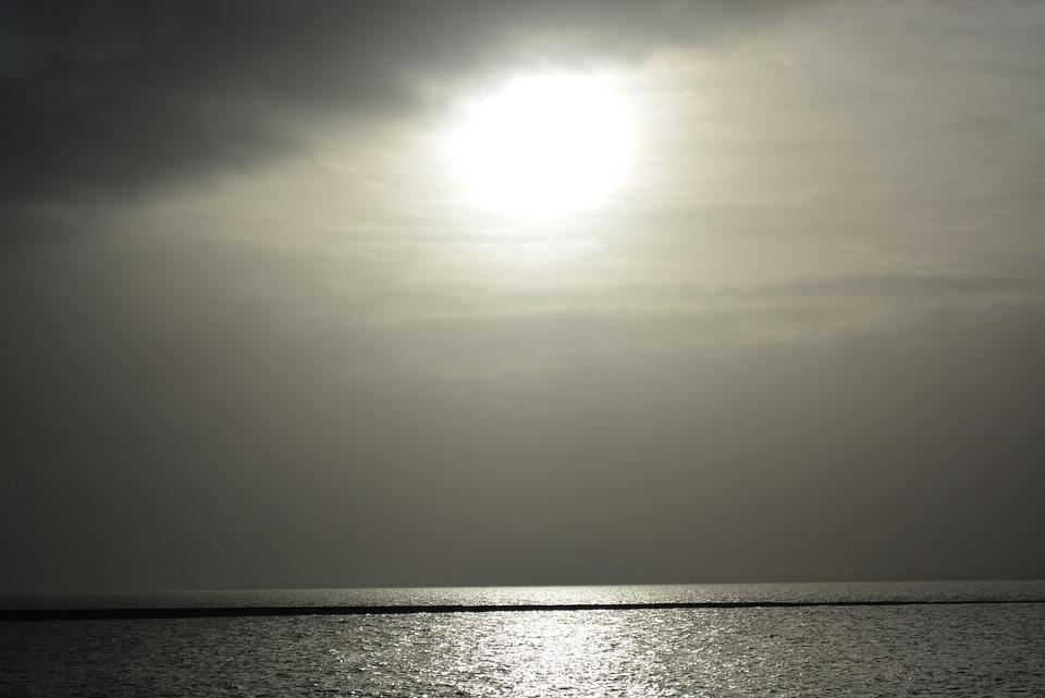North Sea, Black And White, Water, Sea, Nature