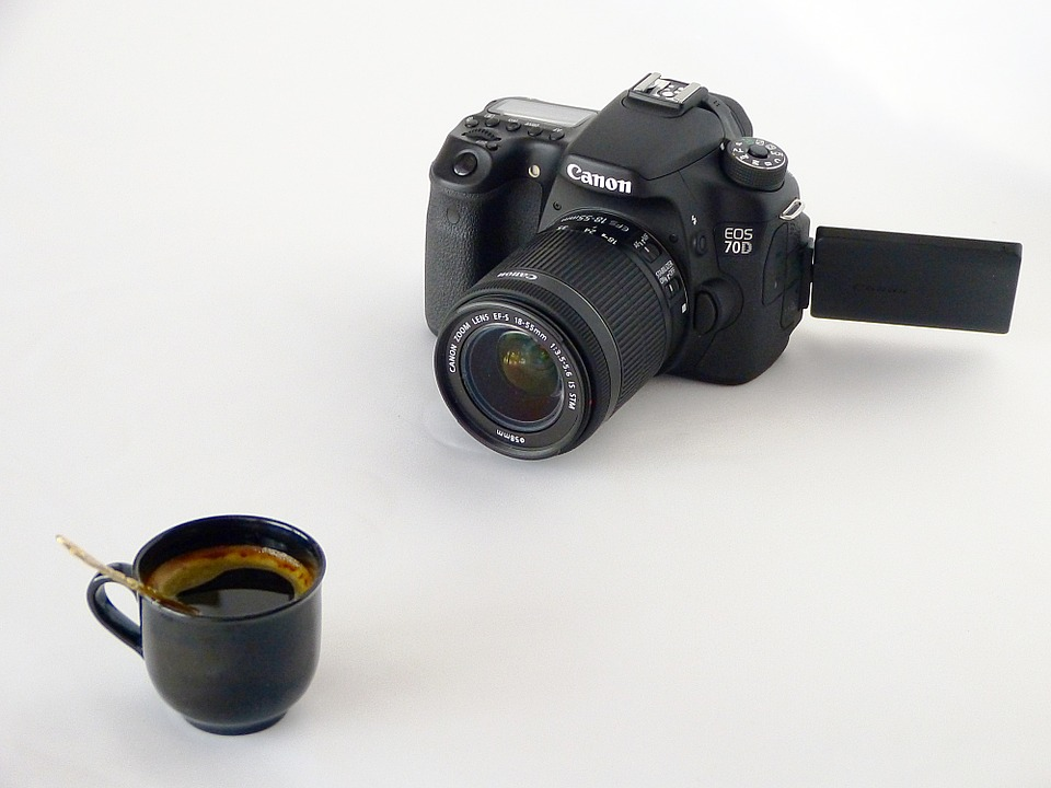 Device, Camera, Digital, Apn, Canon, 70d, Black, Coffee