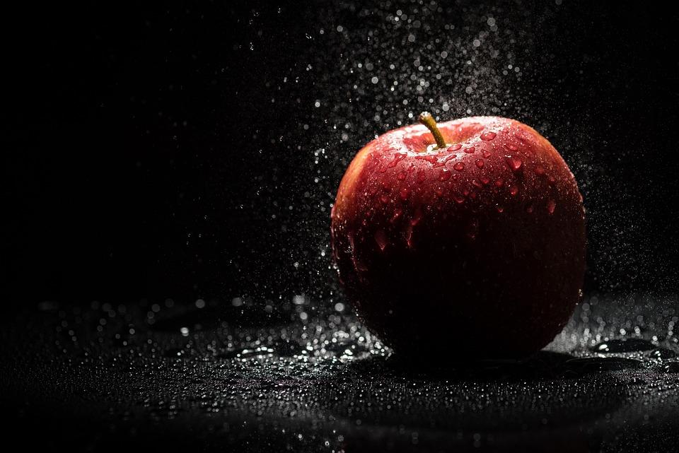 Apple, Red, Black, Flash