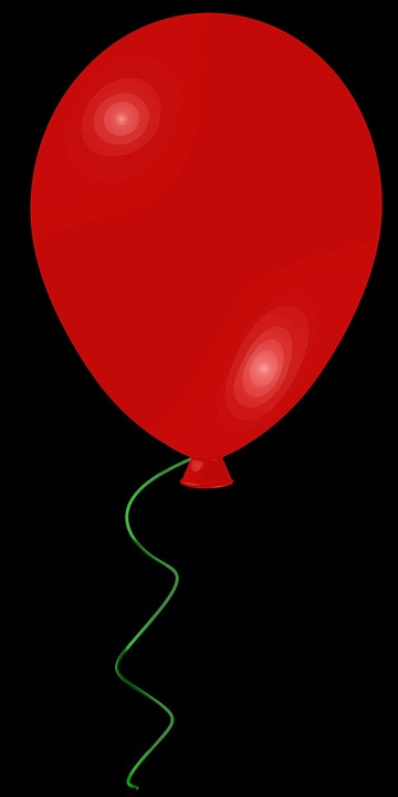 Balloon, Red, Layers, Toy, Black Background