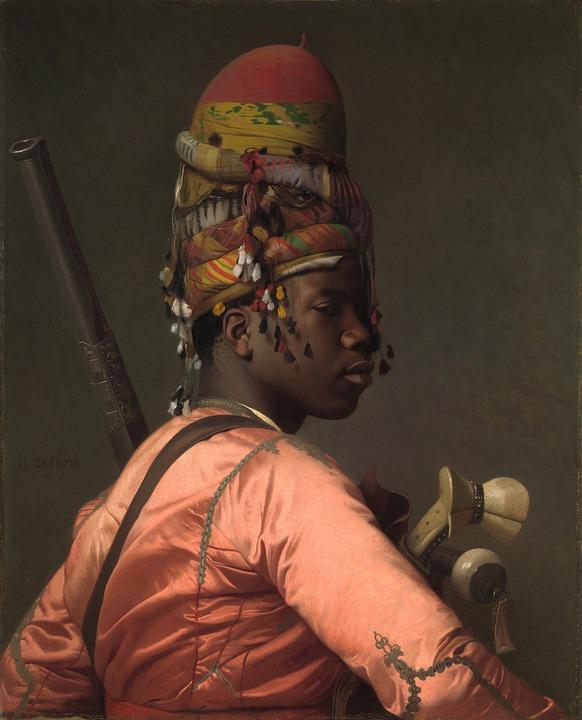 Negress, Black, Woman, Black Bashi Bazouk, Painting