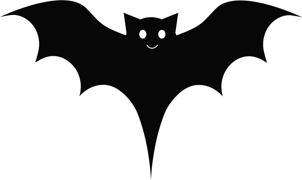 Bat, Black, Cute, Cartoon, Wings