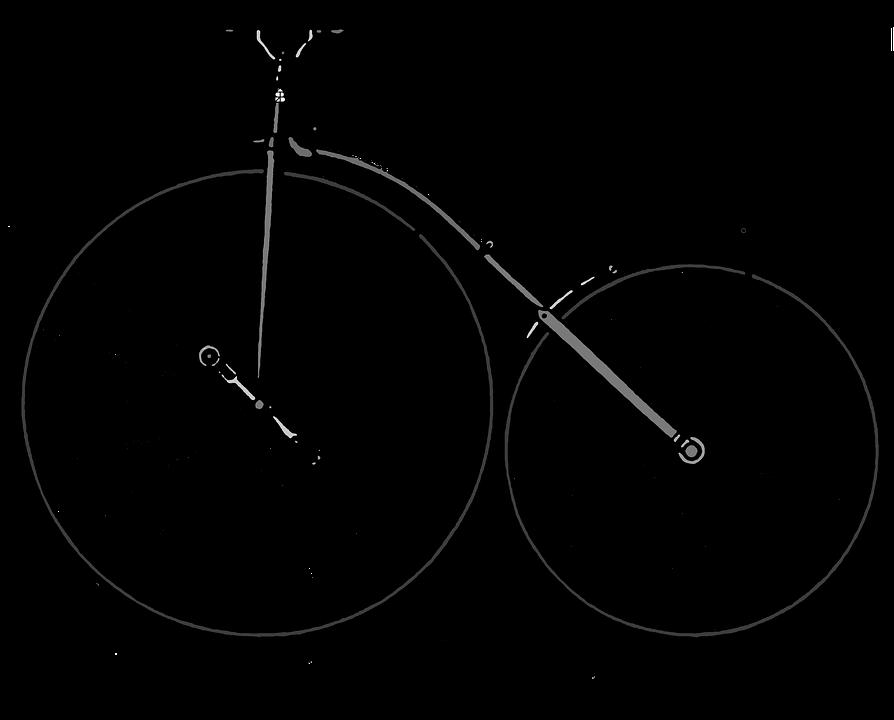 Fixie, Bicycle, Antique, Bike, Vintage, Black, Cut Out