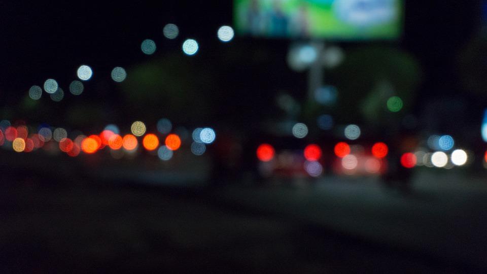 Bokeh, Night, Traffic, Blurry, City, Black Bokeh