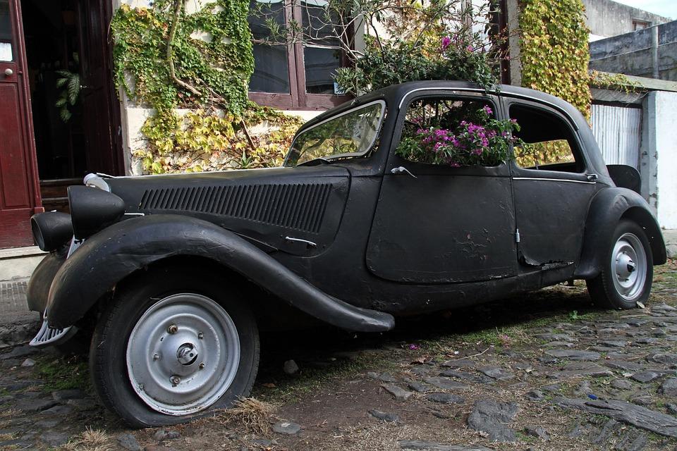 Old, Car, Vintage, Transportation, Antique, Black