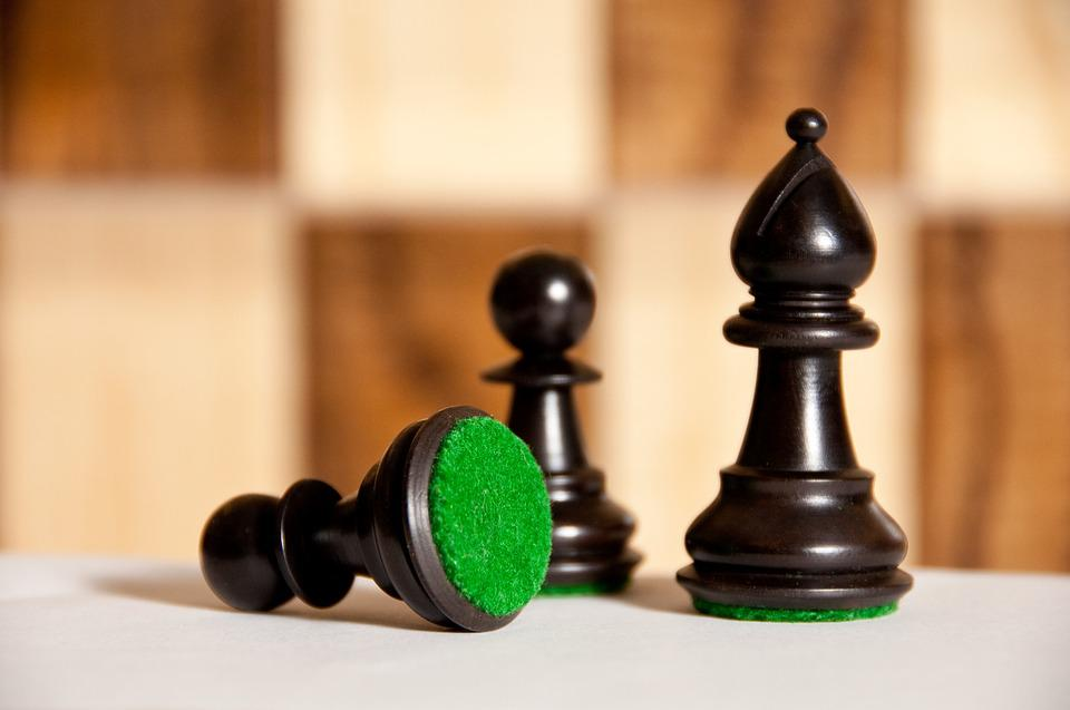 Chess, Black Chess Pieces, Board Games