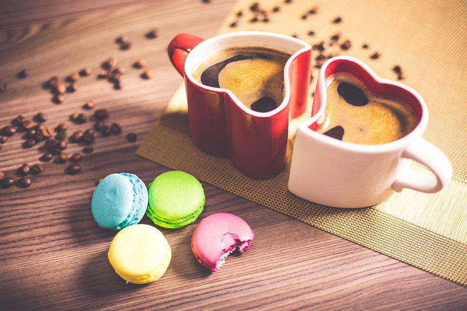Black Coffee, Macaroons, Close-up, Coffee, Color