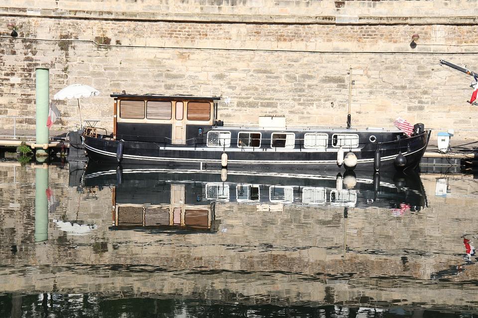 Peniche, Boats, River, Channel, Port, Black Color