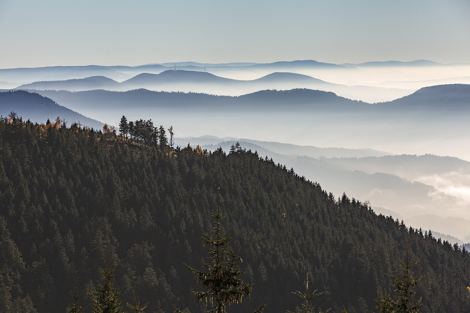 Black Forest, Grinding Head, Panorama, Clouds