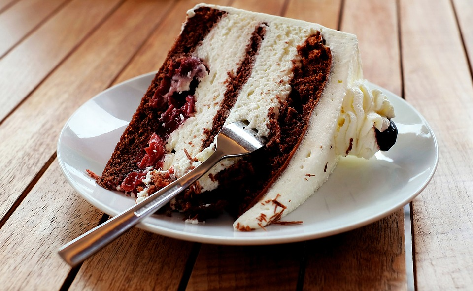 Cake, Piece Of Pie, Black Forest, Calories, Eat
