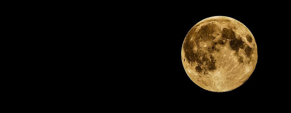 Full Moon, Moon, Night, Dark, Black, Moonlight