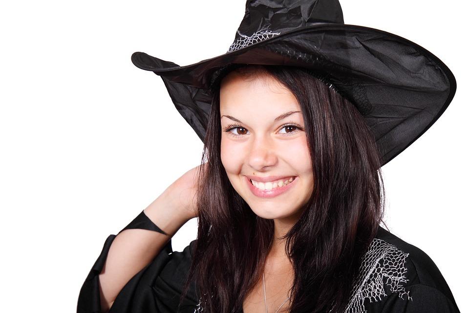 Adult, Black, Body, Costume, Cute, Evil, Female, Girl