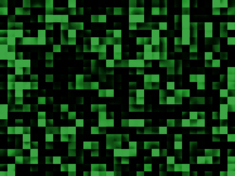 Background, Green, Black, Squares, Design, Texture