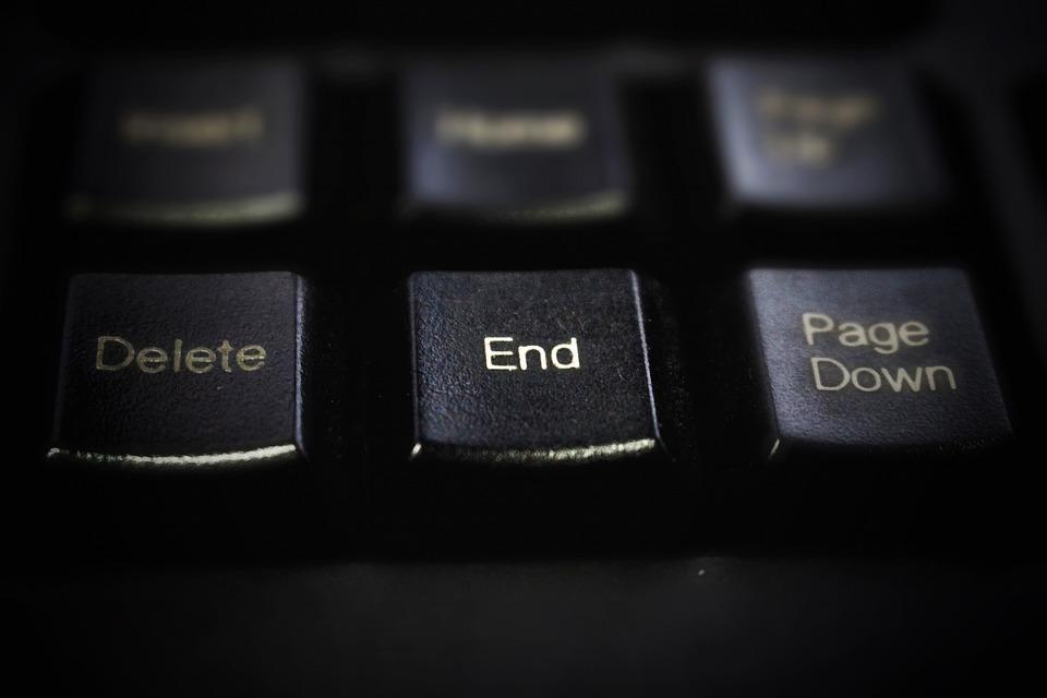 Keyboard, Black, Button, The End, Goodbye