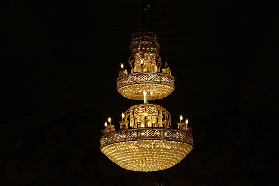Chandelier, Lowlights, Black
