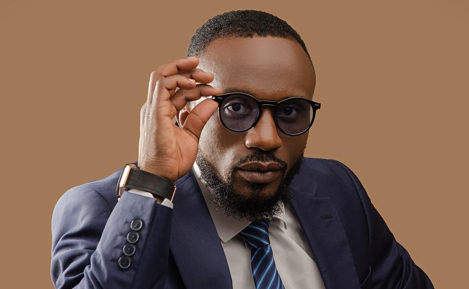 Black Man, Sunglasses, Portrait, Businessman, Suit