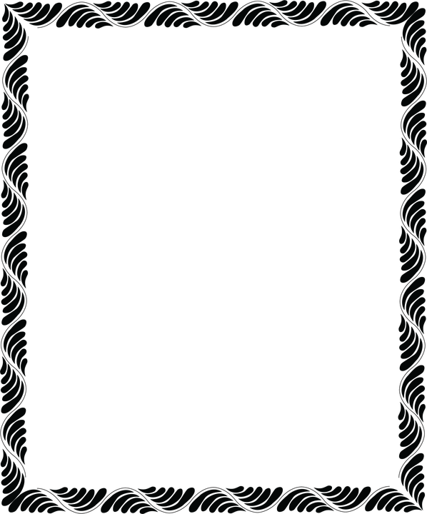 Frame, Picture Frame, Motif, Sample, Black, Folk Motif