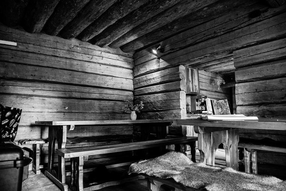 Old House, Black And White, White, Black, Nature