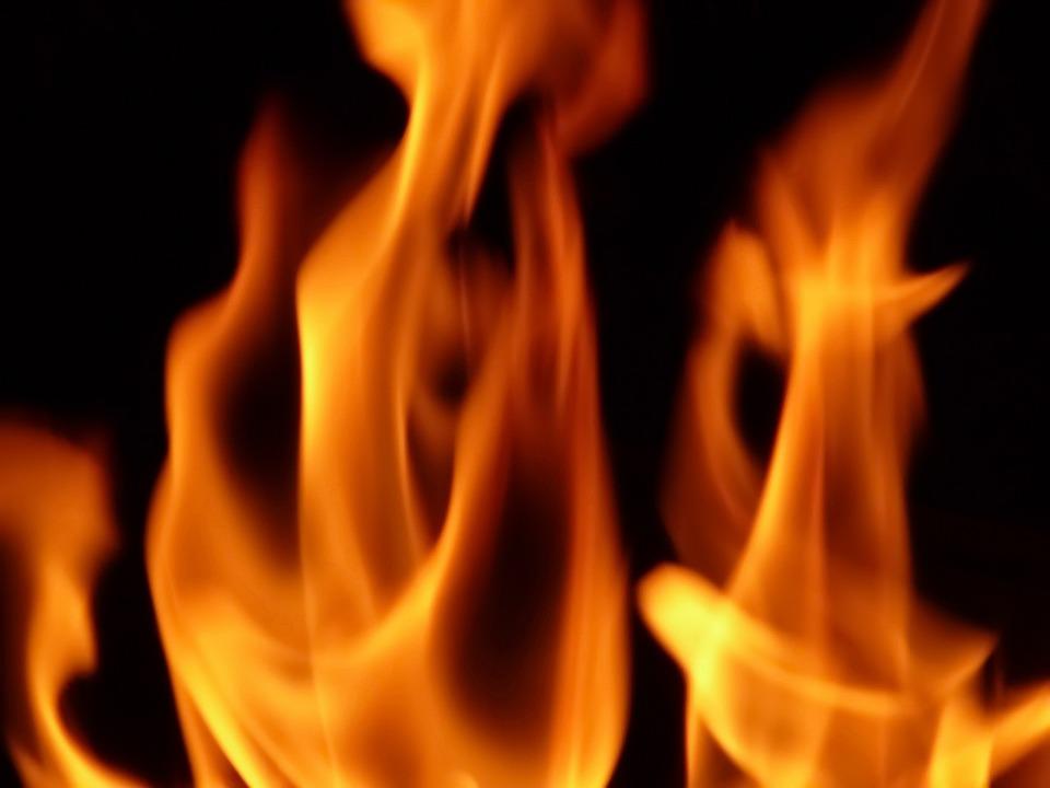 Fire, Red, Flame, Burn, Lighter, Black, Unverbrannt