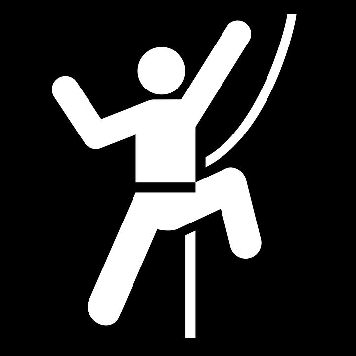 Climbing, Rock Climbing, Rope, Vertical, Black, Sign