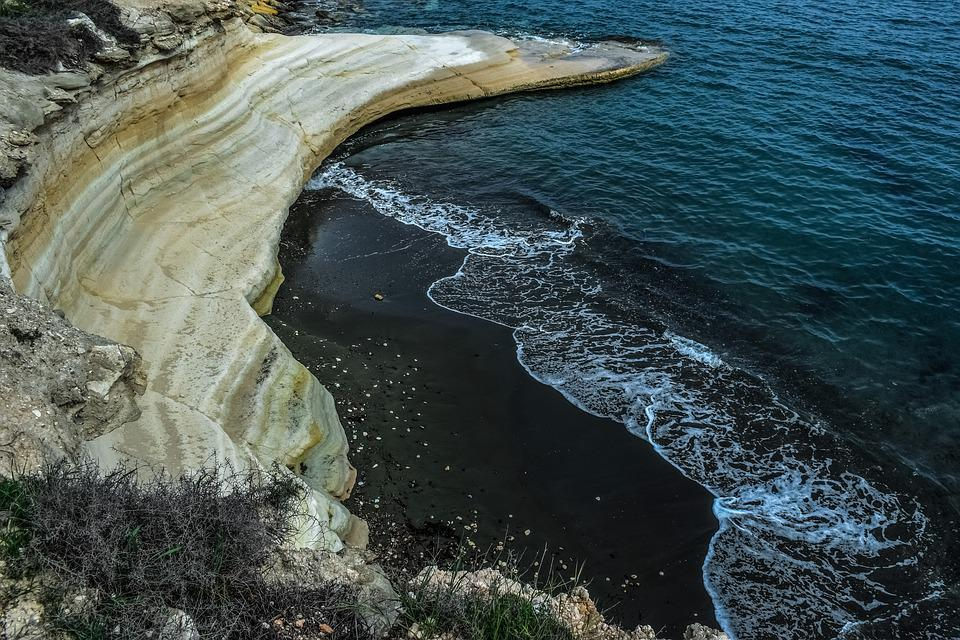 Nature, Landscape, Beach, Seashore, Rock, Black Sand