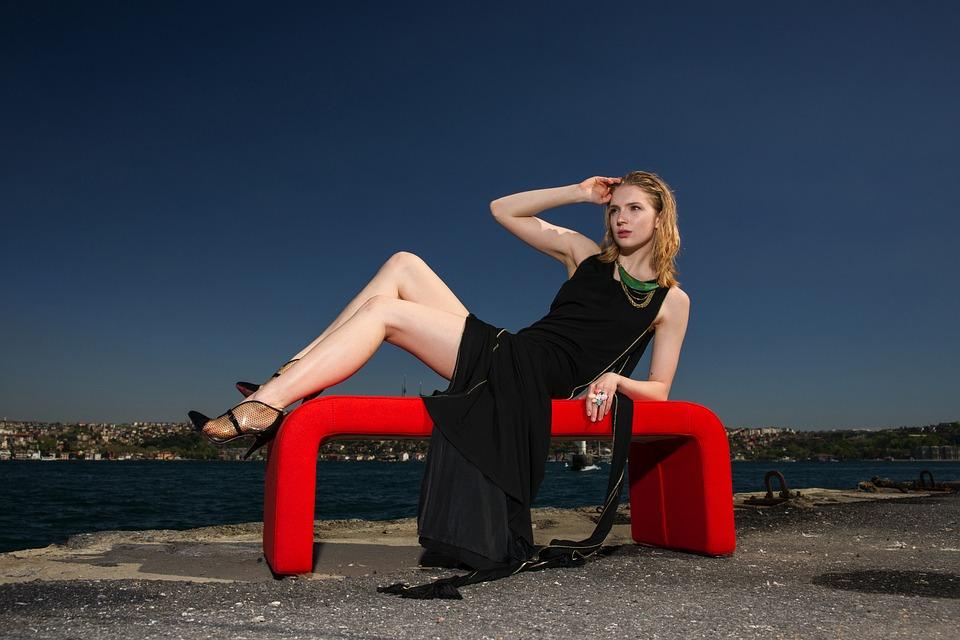 Model, Dress, Black, Women's, Beautiful, Sexy