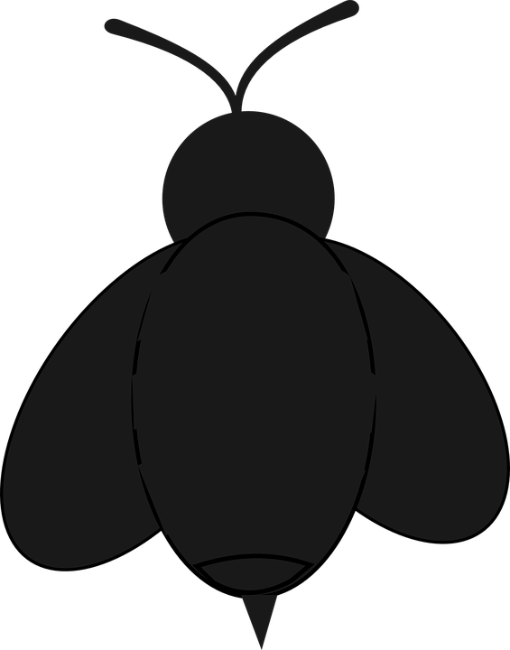 Bee, Insect, Bug, Black, Silhouette