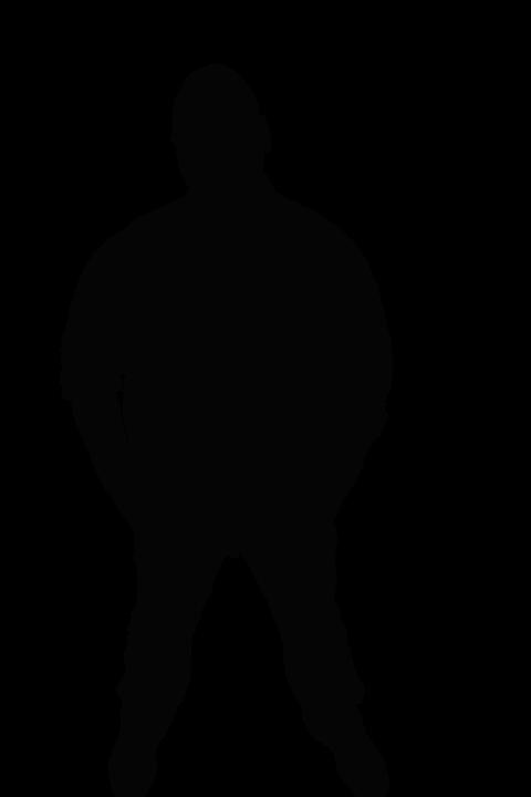 Silhouette, Black, Men's, Man, Adult