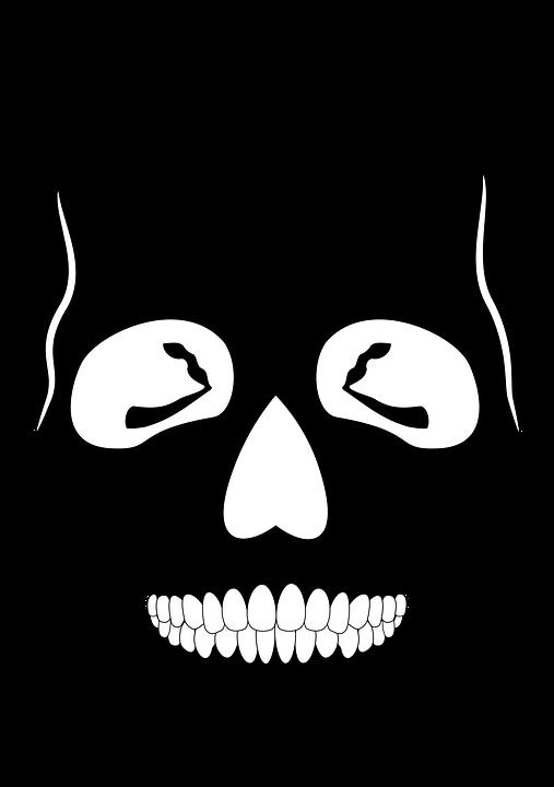 Anatomy, Skeleton, Skull, Black Skull