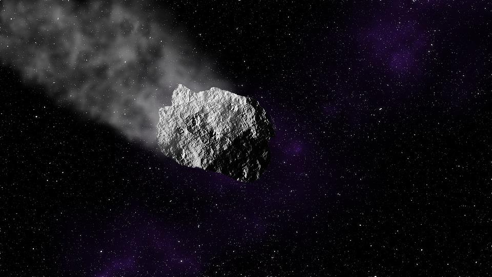 Asteroid, Space, Stars, Meteor, Black Stars