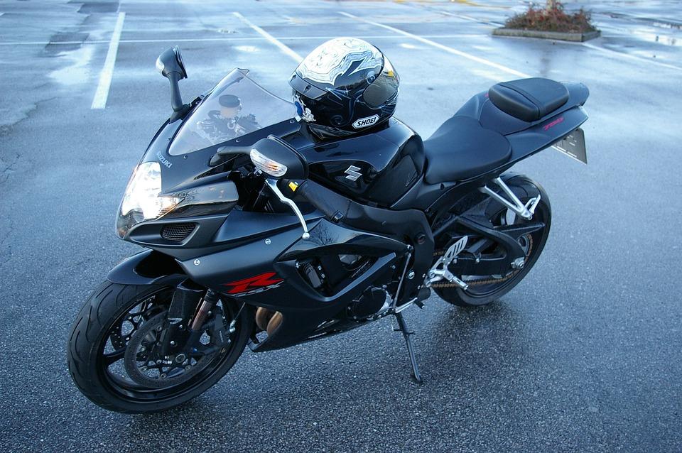 Motorcycle, Suzuki, Gsx-r, Side View, K7, Black