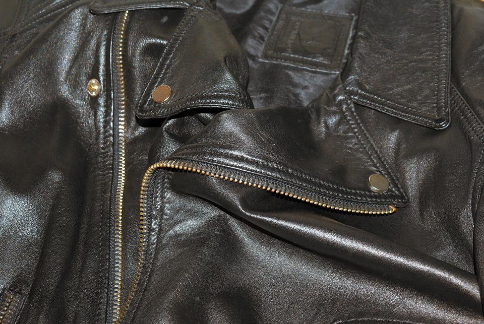 Leather, Jacket, Background, Texture, Black, Garment
