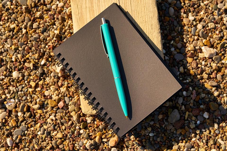 Notebook, Pen, Black, To Write, Read, Author, Poet
