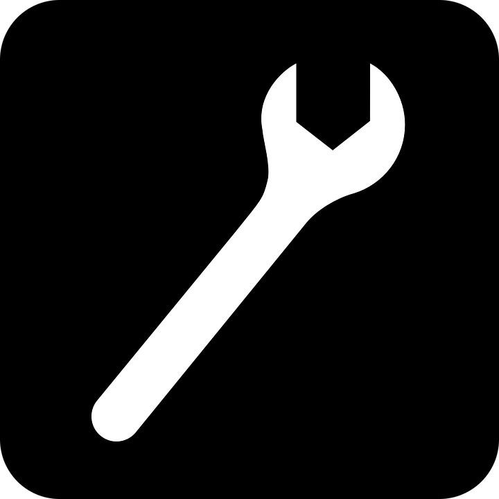 Wrench, Tool, Black, Symbol, Sign, Icon, Black Tools