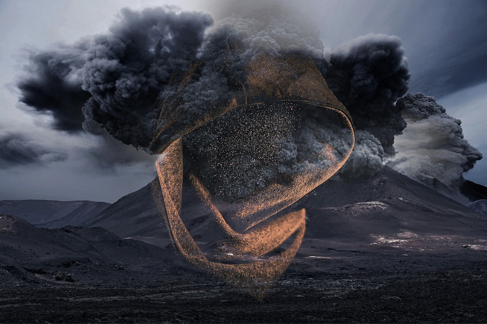 Volcano, Smoke, Black, Volcanic Eruption, Explosion