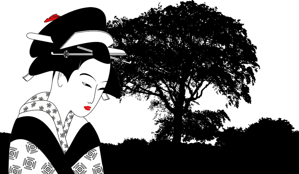 Tree, Black White, Contrast, Asian, Landscape, Trees